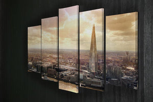 Shard of Glass at sunset 5 Split Panel Canvas  - Canvas Art Rocks - 2