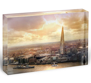 Shard of Glass at sunset Acrylic Block - Canvas Art Rocks - 1