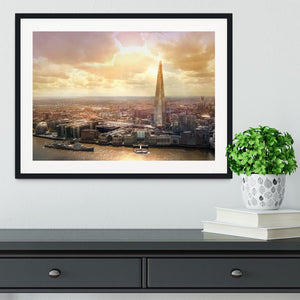 Shard of Glass at sunset Framed Print - Canvas Art Rocks - 1