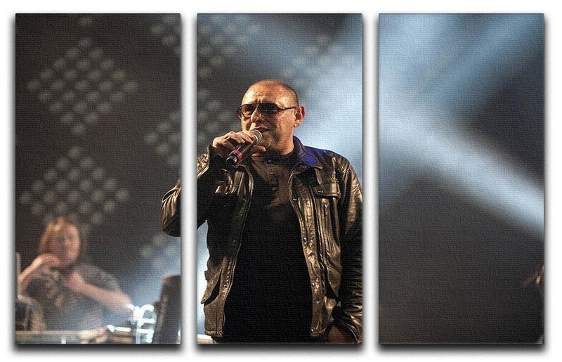 Shaun Ryder of the Happy Mondays 3 Split Panel Canvas Print - Canvas Art Rocks - 1