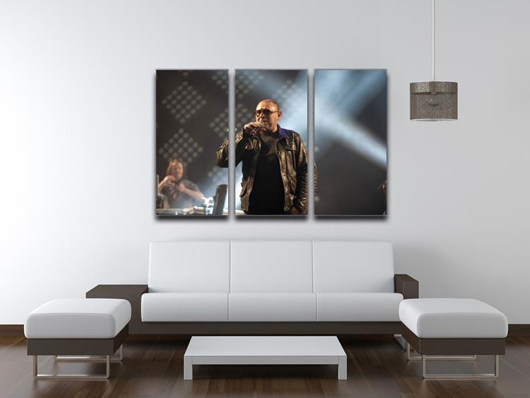 Shaun Ryder of the Happy Mondays 3 Split Panel Canvas Print - Canvas Art Rocks - 3