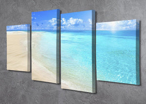 Shells on sunny beach 4 Split Panel Canvas - Canvas Art Rocks - 2