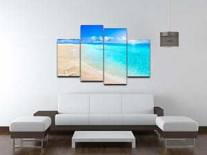 Shells on sunny beach 4 Split Panel Canvas - Canvas Art Rocks - 3
