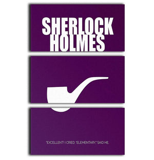 Sherlock Holmes Minimal Movie 3 Split Panel Canvas Print - Canvas Art Rocks - 1