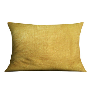 Shiny yellow leaf Cushion - Canvas Art Rocks - 4