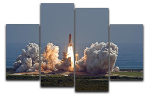 Shuttle Endeavour Launch 4 Split Panel Canvas  - Canvas Art Rocks - 1