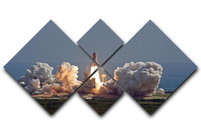 Shuttle Endeavour Launch 4 Square Multi Panel Canvas