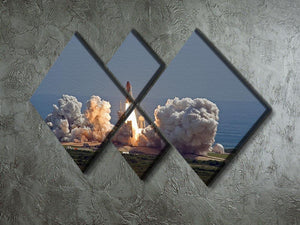 Shuttle Endeavour Launch 4 Square Multi Panel Canvas - Canvas Art Rocks - 2