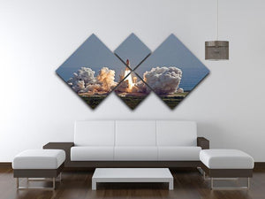 Shuttle Endeavour Launch 4 Square Multi Panel Canvas - Canvas Art Rocks - 3