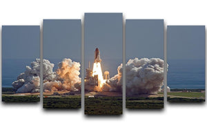 Shuttle Endeavour Launch 5 Split Panel Canvas  - Canvas Art Rocks - 1