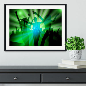 Silhouette Dancers Framed Print - Canvas Art Rocks - 1