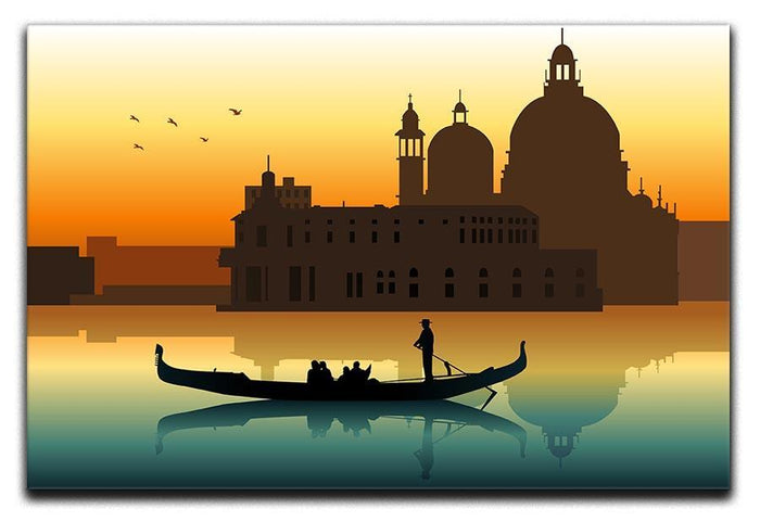 Silhouette illustration gondola in Venice Canvas Print or Poster