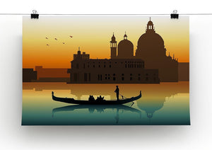 Silhouette illustration gondola in Venice Canvas Print or Poster - Canvas Art Rocks - 2