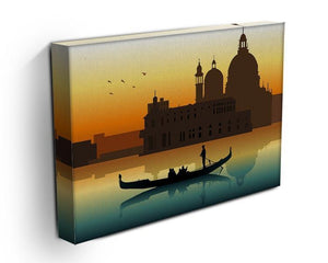 Silhouette illustration gondola in Venice Canvas Print or Poster - Canvas Art Rocks - 3