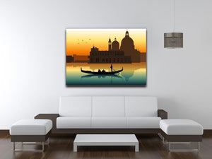 Silhouette illustration gondola in Venice Canvas Print or Poster - Canvas Art Rocks - 4