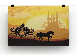 Silhouette of a horse carriage Canvas Print or Poster - Canvas Art Rocks - 2