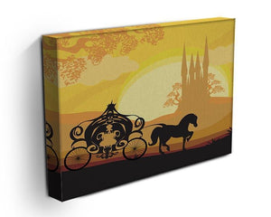 Silhouette of a horse carriage Canvas Print or Poster - Canvas Art Rocks - 3