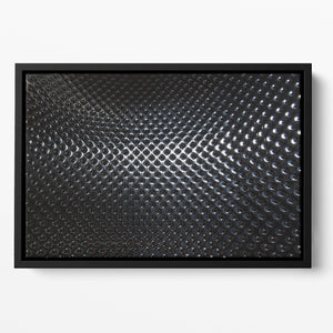 Silver steel metallic hole texture Floating Framed Canvas