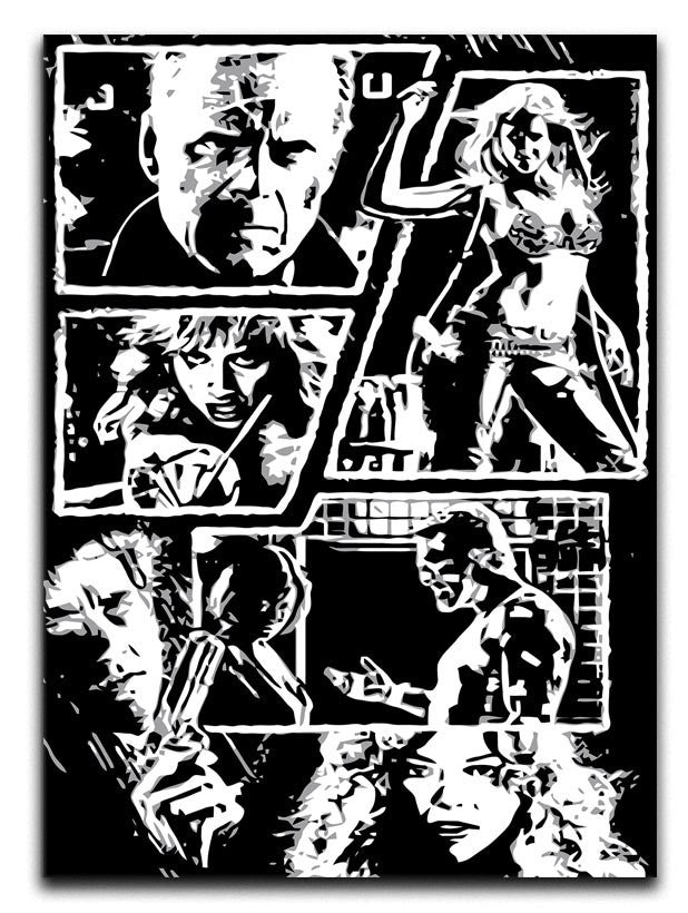 Sin City Comic Strip Canvas Print or Poster