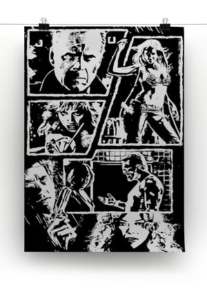 Sin City Comic Strip Print - Canvas Art Rocks - 2