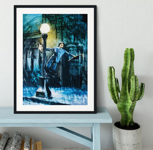 Singing In The Rain Framed Print - Canvas Art Rocks - 1