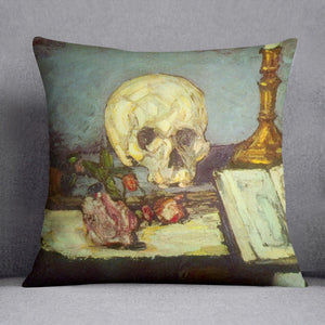 Skull by Degas Throw Pillow