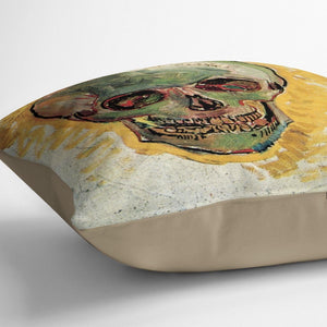 Skull by Van Gogh Throw Pillow