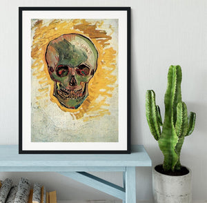 Skull by Van Gogh Framed Print - Canvas Art Rocks - 1