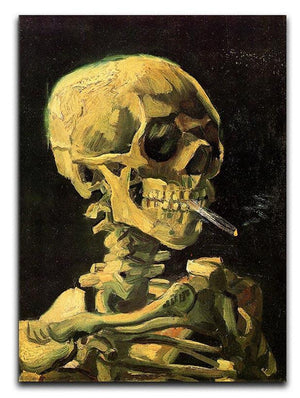 Skull with Burning Cigarette by Van Gogh Canvas Print & Poster  - Canvas Art Rocks - 1