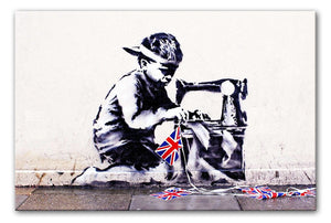 Banksy Slave Labour Print - Canvas Art Rocks - 1