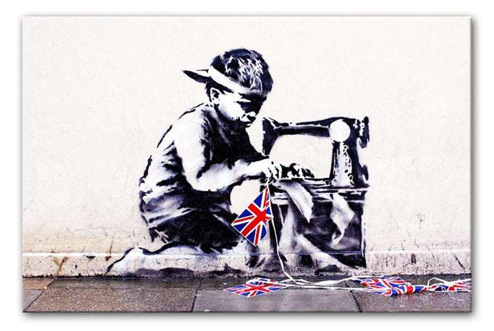 Banksy Slave Labour Canvas Print or Poster