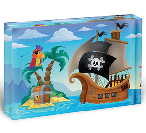 Small pirate island theme 2 Acrylic Block - Canvas Art Rocks - 1