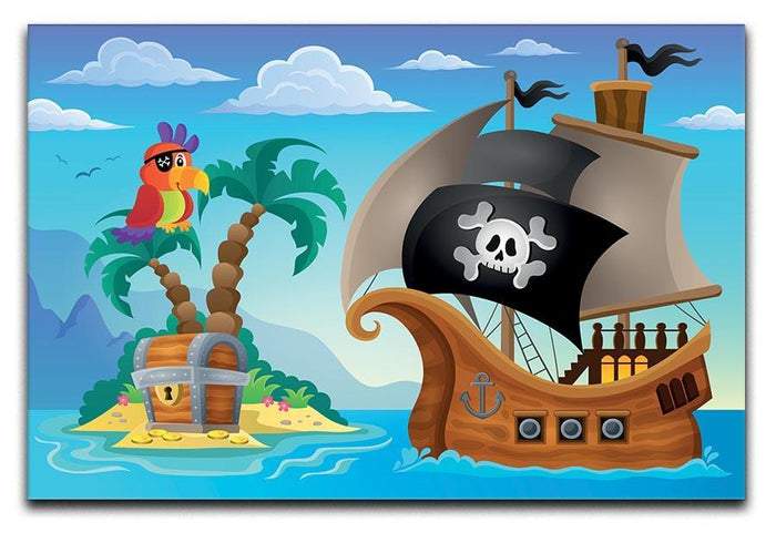 Small pirate island theme 2 Canvas Print or Poster