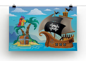 Small pirate island theme 2 Canvas Print or Poster - Canvas Art Rocks - 2