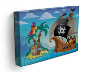 Small pirate island theme 2 Canvas Print or Poster - Canvas Art Rocks - 3