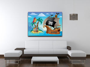 Small pirate island theme 2 Canvas Print or Poster - Canvas Art Rocks - 4