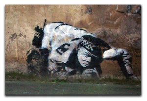 Banksy Snorting Policeman Print - Canvas Art Rocks - 1