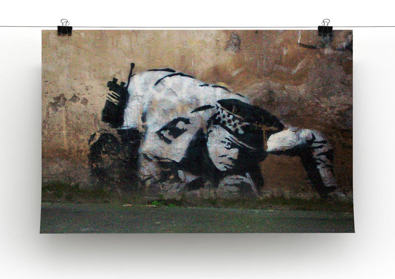 Banksy Snorting Policeman Print - Canvas Art Rocks - 2
