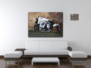Banksy Snorting Policeman Print - Canvas Art Rocks - 4