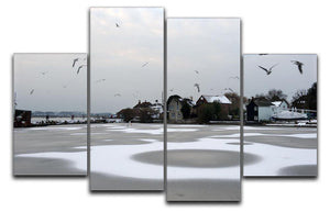 Snow Circles 4 Split Panel Canvas - Canvas Art Rocks - 1