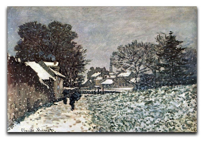 Snow at Argenteuil by Monet Canvas Print or Poster