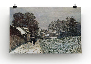 Snow at Argenteuil by Monet Canvas Print & Poster - Canvas Art Rocks - 2