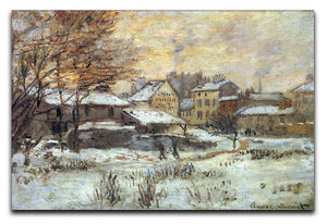Snow at sunset Argenteuil in the snow by Monet Canvas Print & Poster  - Canvas Art Rocks - 1