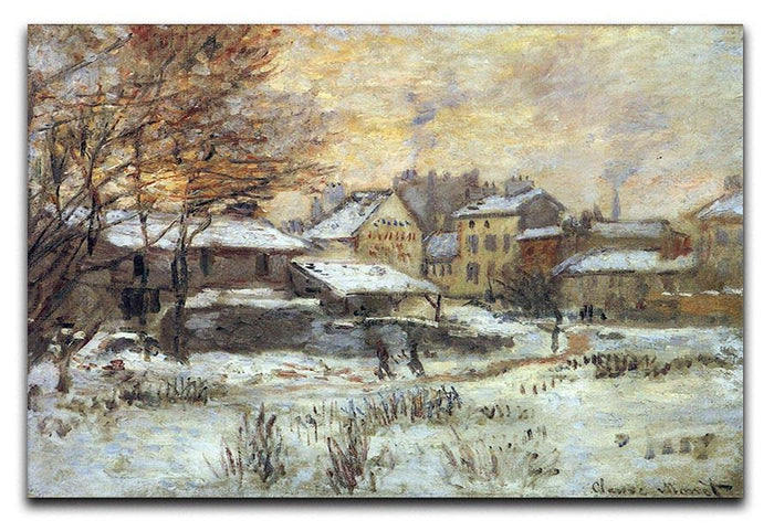 Snow at sunset Argenteuil in the snow by Monet Canvas Print or Poster