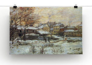 Snow at sunset Argenteuil in the snow by Monet Canvas Print & Poster - Canvas Art Rocks - 2