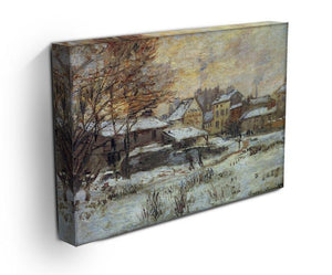Snow at sunset Argenteuil in the snow by Monet Canvas Print & Poster - Canvas Art Rocks - 3