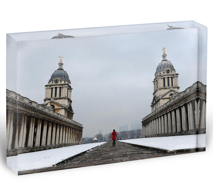 Snow in Greenwich Acrylic Block