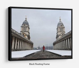 Snow in Greenwich Floating Frame Canvas - Canvas Art Rocks - 1