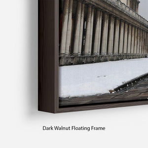 Snow in Greenwich Floating Frame Canvas - Canvas Art Rocks - 6