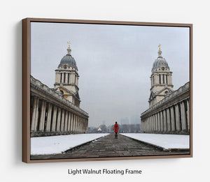 Snow in Greenwich Floating Frame Canvas - Canvas Art Rocks 7